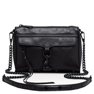 Rebecca Minkoff | Black Mini MAC Leather Crossbody